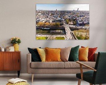Blick von Notre-Dame über Paris von Werner Dieterich