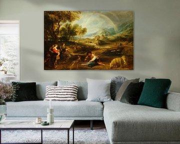 Landschap met een regenboog, Pieter Paul Rubens