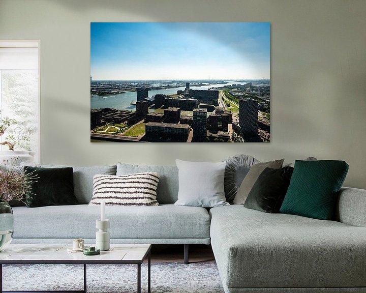 Sfeerimpressie: Rotterdam vanaf de Euromast. van Brian Morgan