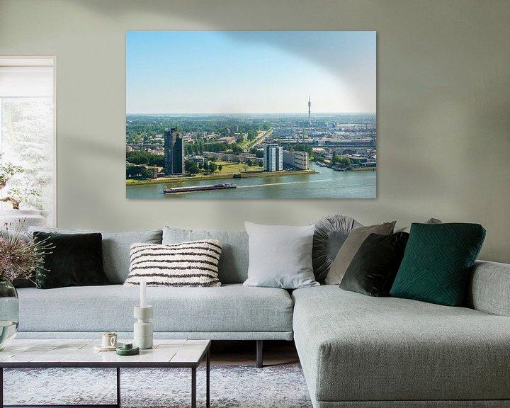 Sfeerimpressie: Stad Rotterdam vanaf de Euromast. van Brian Morgan