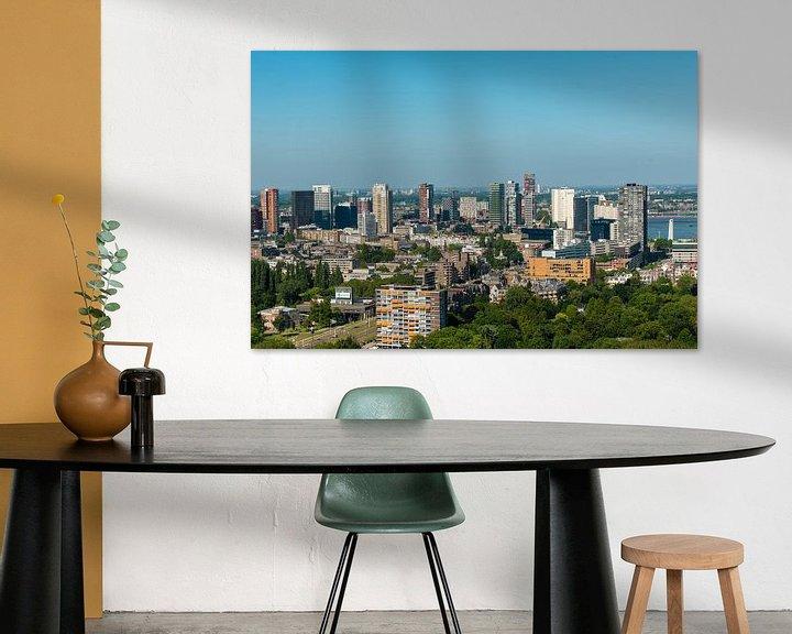 Sfeerimpressie: De Stad Rotterdam vanaf de Euromast. van Brian Morgan