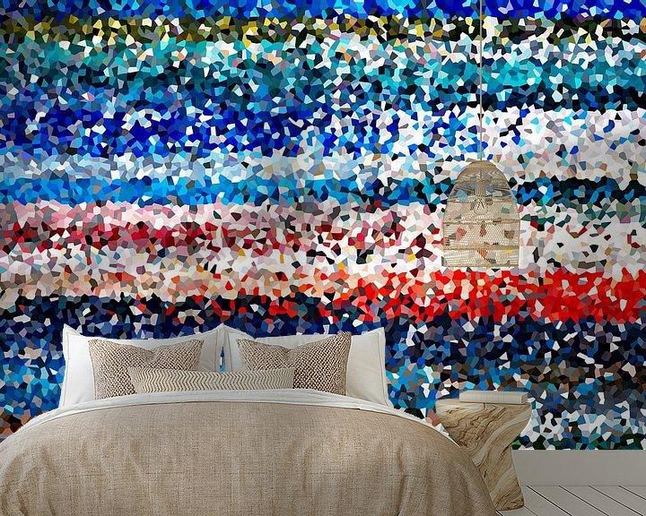 Sfeerimpressie behang: Kleurrijke kristallen van Marion Tenbergen