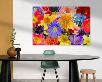 Résumé de mélange floral sur Marion Tenbergen