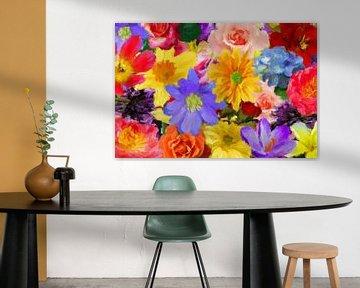 Blumenmix abstrakt von Marion Tenbergen