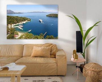 Vathy haven /Meganisi eiland Griekenland van Shot it fotografie