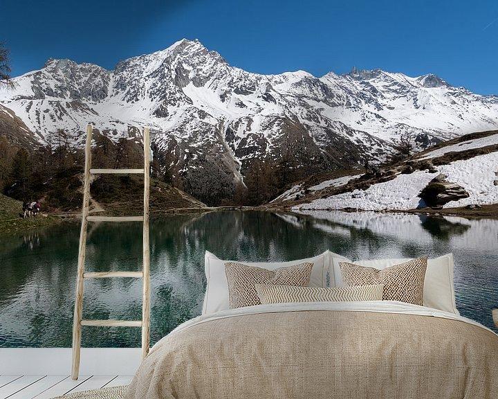 Sfeerimpressie behang: Lac Bleu. Zwitserland van Ingrid Aanen
