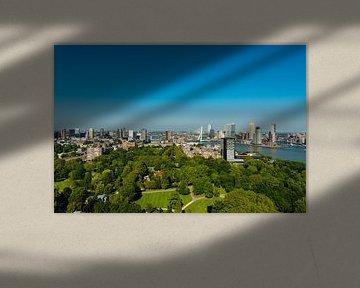 Panorama Rotterdam met de Erasmusbrug von Brian Morgan
