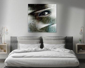 Auge in der Wand von Dick Jeukens