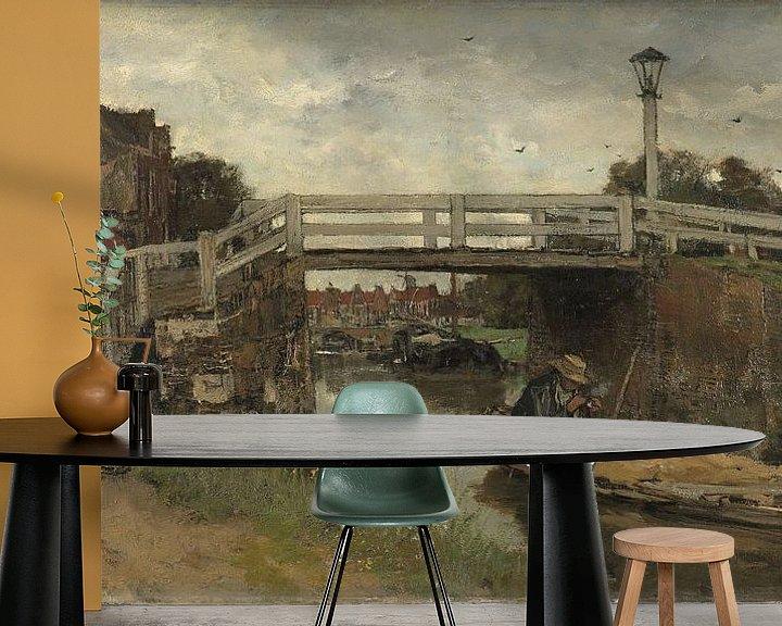 Beispiel fototapete: The Bridge, Jacob Maris