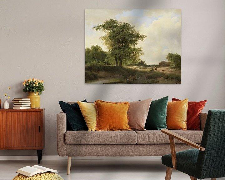 Beispiel: Landscape with Farmstead, Johannes Warnardus Bilders