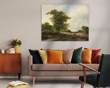 Landschap met boerenhoeve, Johannes Warnardus Bilders