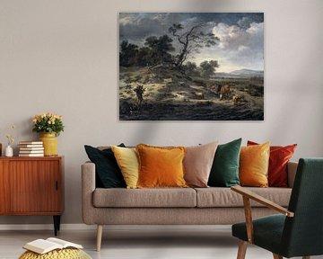 Landschap met vee op een landweg, Jan Wijnants
