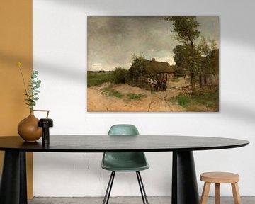 Huisje aan de zandweg, Anton Mauve