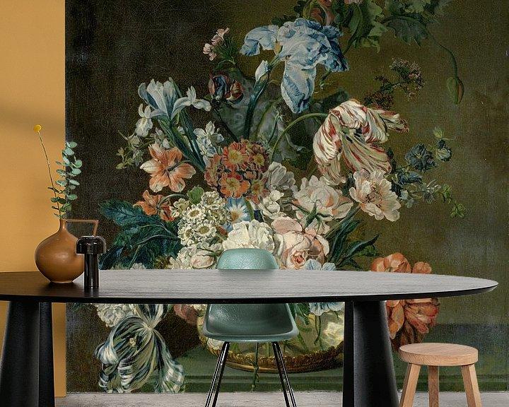Beispiel fototapete: Still Life with Flowers, Cornelia van der Mijn