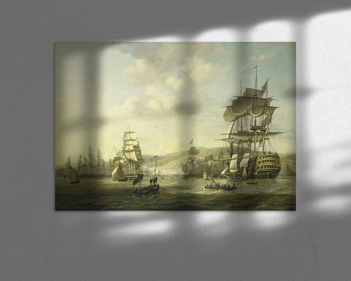 Beispiel: The Anglo-Dutch Fleet in the Bay of Algiers, Nicolaas Baur