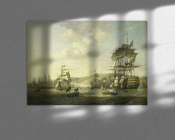De Engels-Nederlandse vloot in de Baai van Algiers,Nicolaas Baur