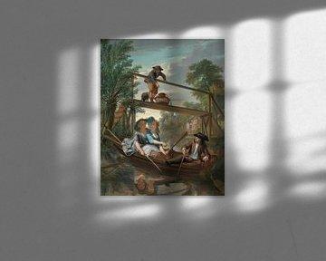 De hengelaars, Nicolaas Verkolje