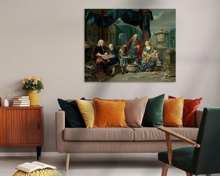 Beispiel: Portrait of David van Mollem with his Family, Nicolaas Verkolje