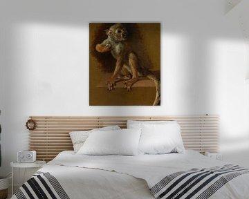 Een zittend aapje, Jan Weenix