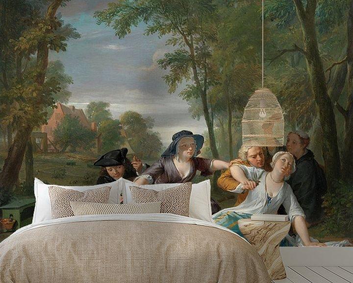 Beispiel fototapete: De vogelaars, Nicolaas Verkolje