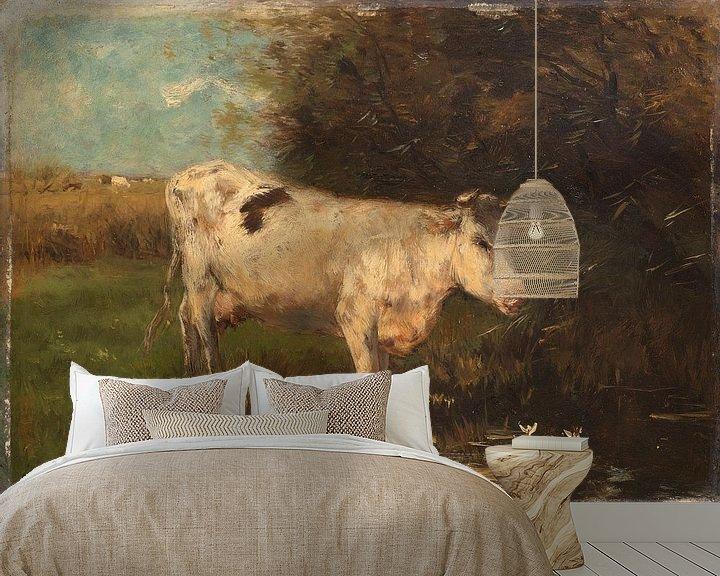 Sfeerimpressie behang: Witte koe, Willem Maris