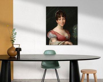 Portret van Hortense de Beauharnais, koningin van Holland, Anne-Louis Girodet-Trioson