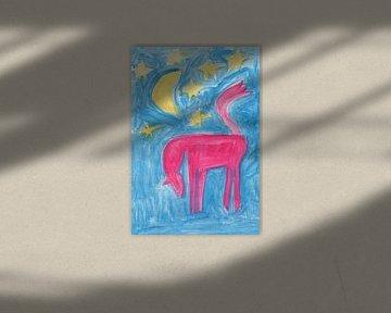 Pferd, Mond und Sterne von Verbeeldt