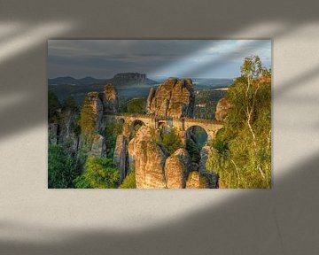 Basteibrücke in der Sächsischen Schweiz von Michael Valjak