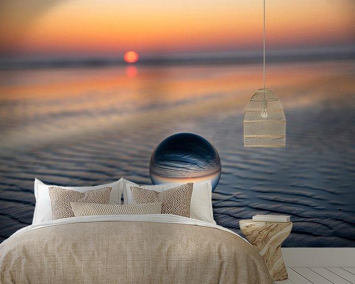 Beispiel fototapete: Ameland: am Strand Sonnenuntergang von Coby Bergsma