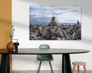 Island: Stilleben mit Steinen von Coby Bergsma