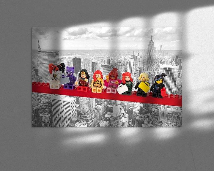 Beispiel: Lunch atop a skyscraper Lego edition - Super Heroes - Women - New York von Marco van den Arend