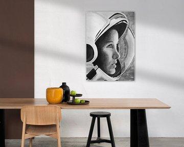 Astronautin Realistisch von Liv Jongman