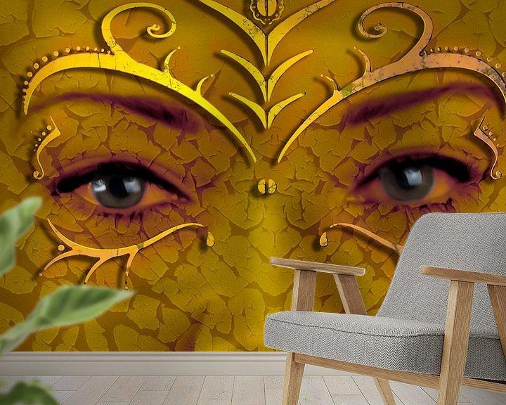 Sfeerimpressie behang: Masker van Jos Verhoeven