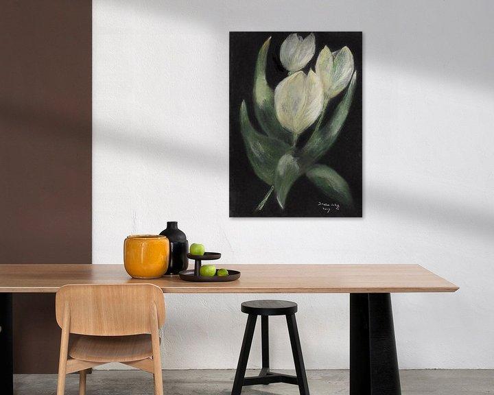 Beispiel: Weiße Tulpen. von Ineke de Rijk