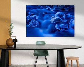 Een blauw gekleurde rivier in noord Finland van AGAMI Photo Agency