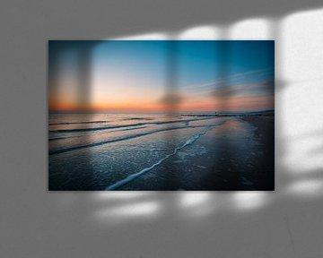 Zonsondergang Dishoek strand van Andy Troy
