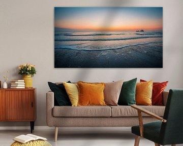 Zonsondergang Dishoek strand 2 van Andy Troy