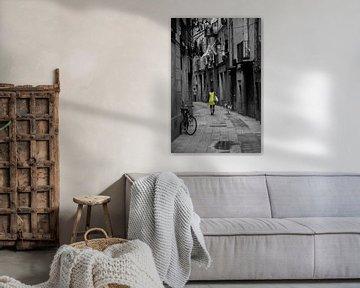 Barcelona: vrouw met hond von Cathy Janssens