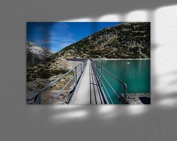 Stuwmeer, Gelmersee Zwitserland van Sasja van der Grinten