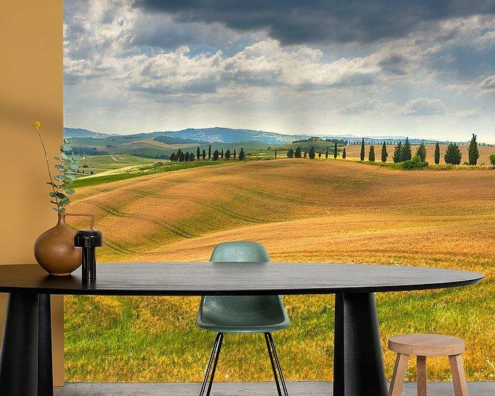 Sfeerimpressie behang: beeld van het landschap in Toscane van eric van der eijk