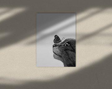 Kat en Vlinder von Liv Jongman