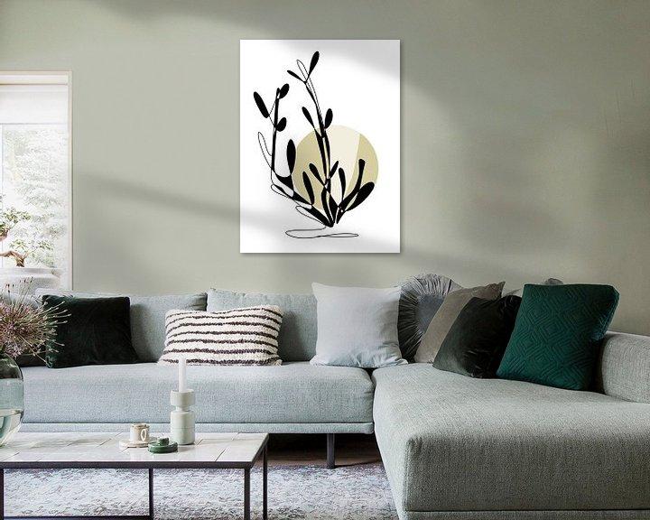 Sfeerimpressie: One line drawing Funny Grass van Ankie Kooi