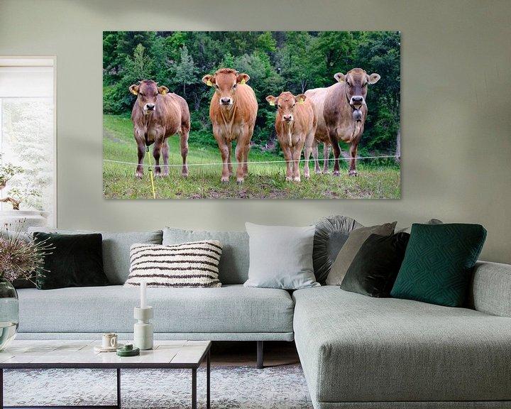 Sfeerimpressie: Koeien in Zwitserland van Arie Bon