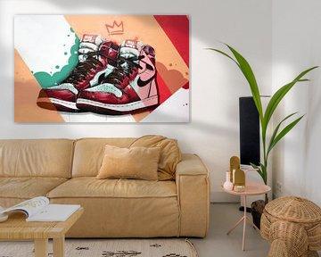 Nike Air Jodans 1 graffiti. von Jos Hoppenbrouwers