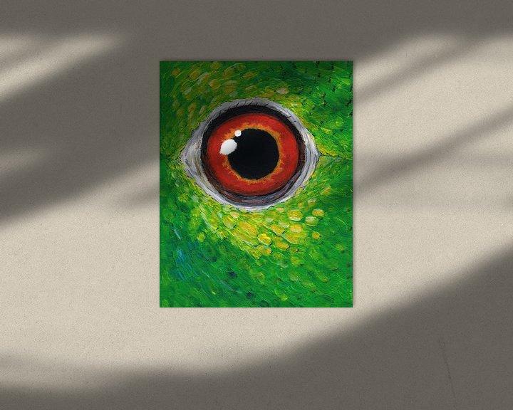 Beispiel: Amazon Papagei Auge von Bianca Wisseloo