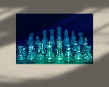 farbige Schachfiguren