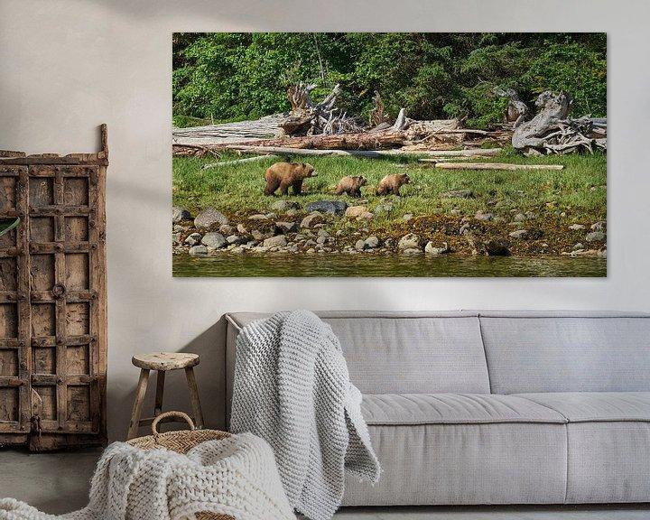 Sfeerimpressie: Familie Grizzly op wandeltocht van Gerard Oonk