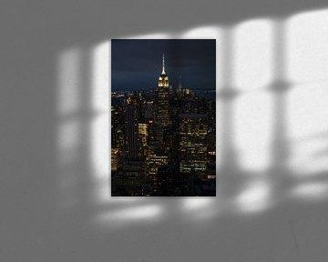New York City in de avond van Nynke Altenburg