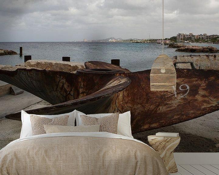 Sfeerimpressie behang: scheepsschroef schroef schip van Frans Versteden