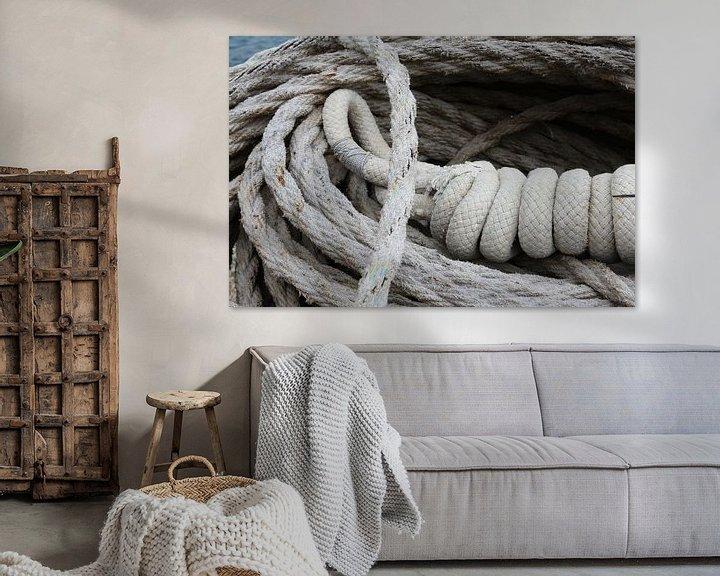 Sfeerimpressie: scheepstouw tros touw van Frans Versteden